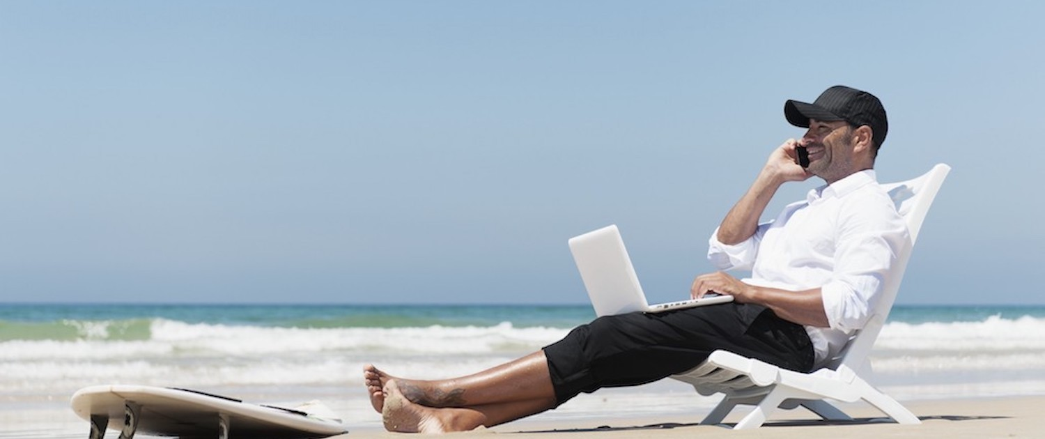 easy online biz solutions working from beach 1500 630