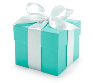 tiffany and co branding with its box