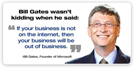 Bill Gates online marketing quote