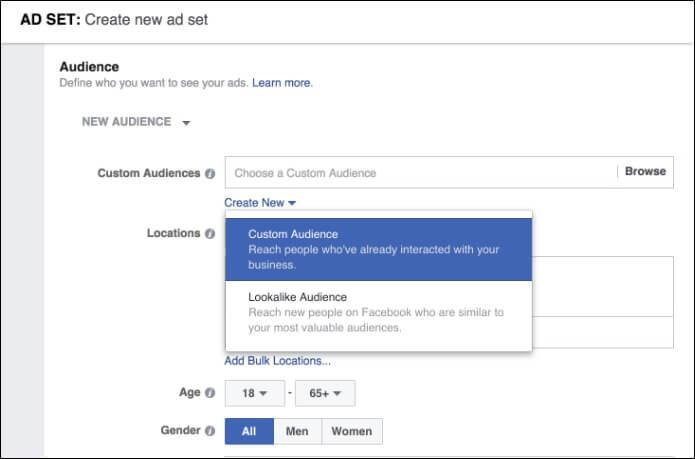 Create Facebook Ad Campaign - Custom Audience