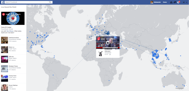 Facebook LIVE Map Example