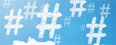 Hashtag Shapes in Clouds