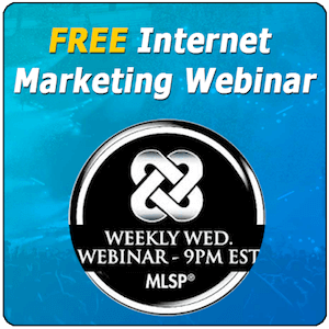 FREE Internet Marketing Webinar by MLSP banner 300 sq