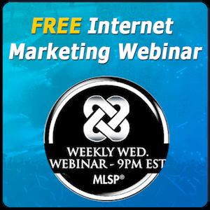 FREE Internet Marketing Webinar by MLSP banner 300 sq